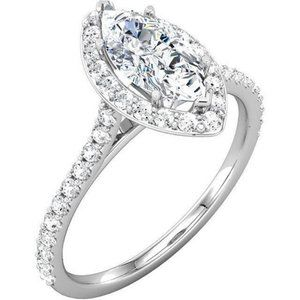 2.01 ct. wedding ring Marquise & round brilliant d